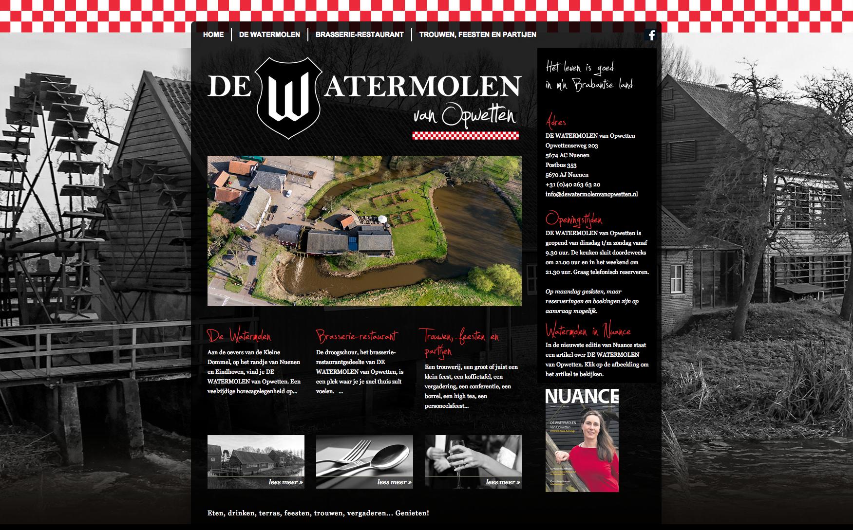 DE WATERMOLEN van Opwetten - homepage