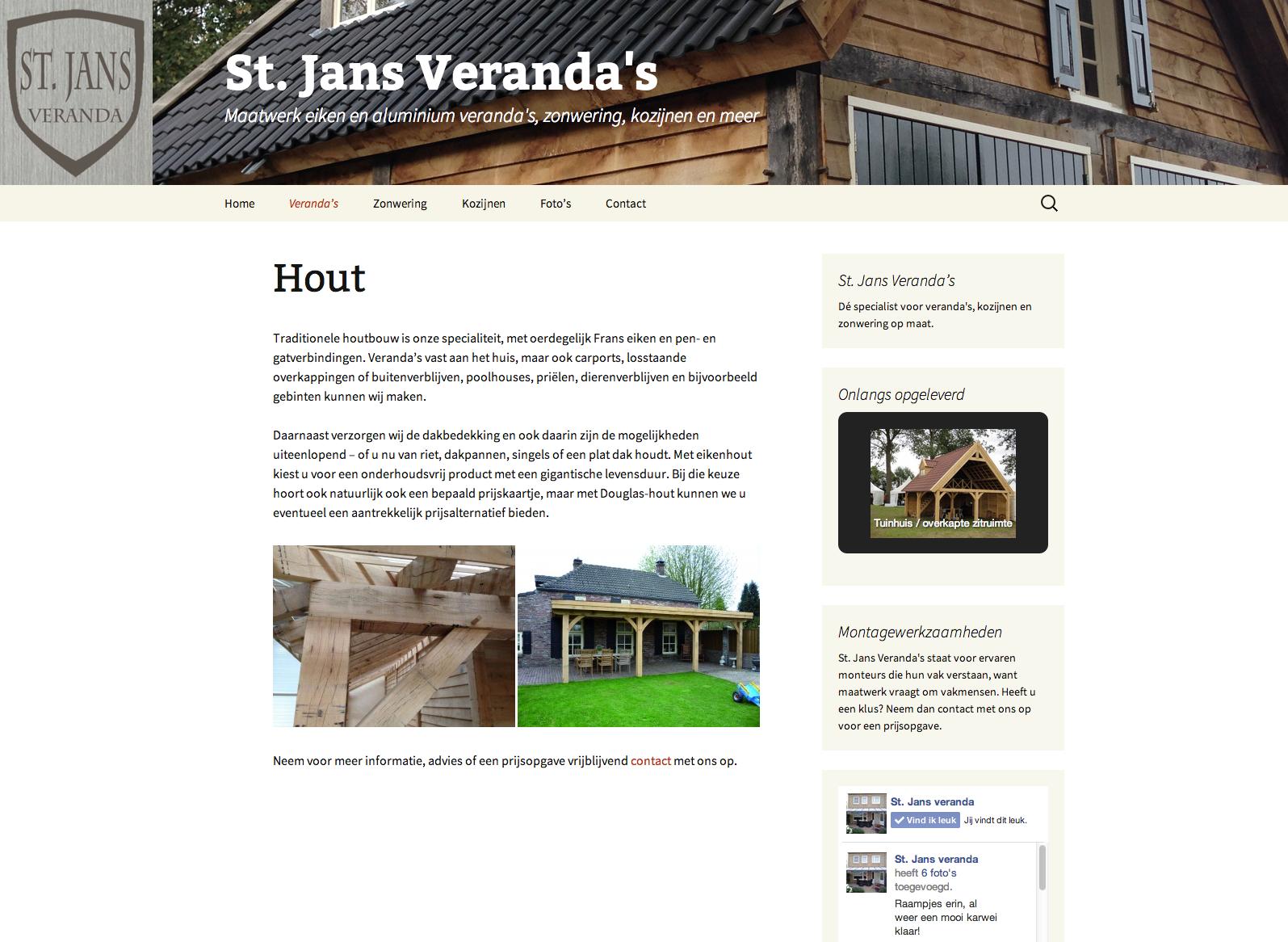 St. Jans Veranda's - website